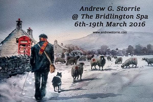 Andrew Storrie - Watercolour Exhibition - Bridlington Spa